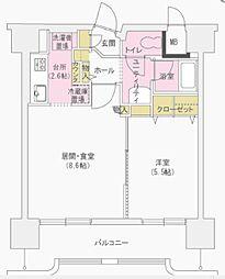 コンフォーレ三貴[8階]の間取り