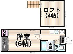 タウンコート井尻[2階]の間取り