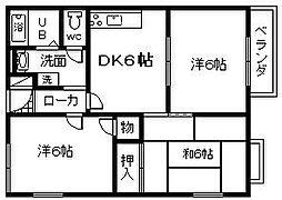 マイトレヤ和田 A棟[102号室]の間取り