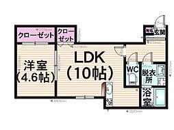 Kate井尻駅[103号室]の間取り