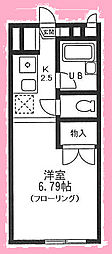 神奈川県横浜市金沢区大道1丁目の賃貸アパートの間取り
