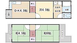 [一戸建] 大阪府寝屋川市緑町 の賃貸【/】の間取り