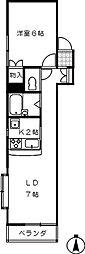 桜の木ヨシノ[306号室]の間取り