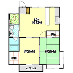 長野県飯田市駄科の賃貸アパートの間取り