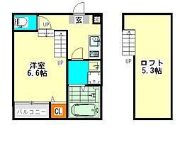 ハーモニーテラス上石川町II(ハーモニーテラスカミイシカワマ[2階]の間取り