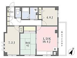 シュテル豊 4階3LDKの間取り