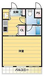 ヒルトップハイム城東[102号室号室]の間取り