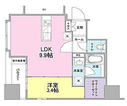 リバーレ東新宿[9階]の間取り