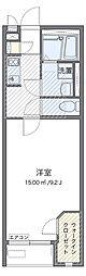 つくばエクスプレス 三郷中央駅 バス23分 上口公園下車 徒歩4分の賃貸アパート 1階1Kの間取り