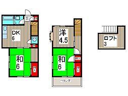 [テラスハウス] 埼玉県川口市大字東本郷 の賃貸【/】の間取り