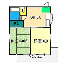 Aコーポ[2階]の間取り