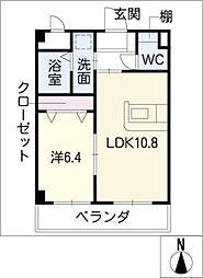 元八事弐風館[3階]の間取り