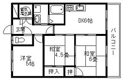 西村マンション[207号室]の間取り