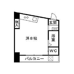 福岡県北九州市小倉南区北方2丁目の賃貸マンションの間取り
