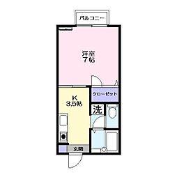シャーメゾン立石[2階]の間取り