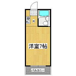 佐々木マンション[107号室]の間取り