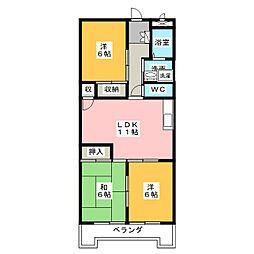 第3横吹小菅ビル B棟[2階]の間取り