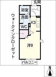 スプリングU[2階]の間取り