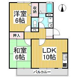 パークタウン桜堂 A棟[1階]の間取り