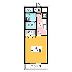 シャトー友喜Ⅱ[1階]の間取り