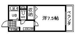 ミヤコピア高松[107号室]の間取り