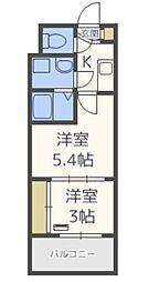 VIDA博多[5階]の間取り