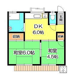 [一戸建] 東京都清瀬市下宿1丁目 の賃貸【/】の間取り
