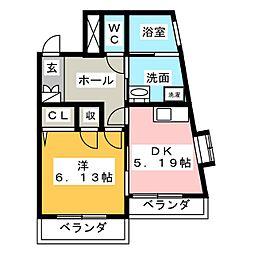 タウンコートNTK[4階]の間取り
