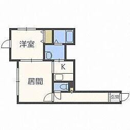 セントニア46[1階]の間取り