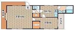 兵庫県神戸市中央区熊内町9丁目の賃貸アパートの間取り