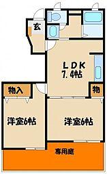 エクセルハイツC[1階]の間取り