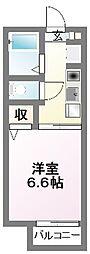 千葉県習志野市藤崎2の賃貸アパートの間取り