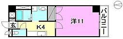 ロイヤルハイツ朝生田[206 号室号室]の間取り