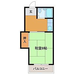 レディースホーム實松[2階]の間取り