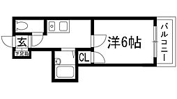 第3モン・セ・リバア[1階]の間取り