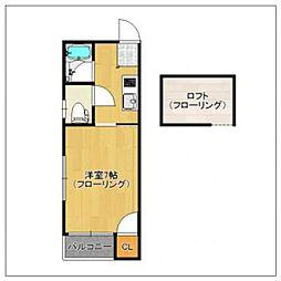 アイネス[2階]の間取り