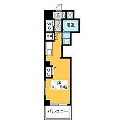 レグルス三ノ輪 6階ワンルームの間取り