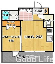 グランフォ-レ西新アネックス(502)[5階]の間取り