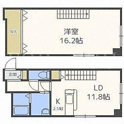 北海道札幌市中央区南六条東1丁目の賃貸マンションの間取り