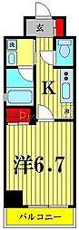 都営浅草線 本所吾妻橋駅 徒歩5分の賃貸マンション 3階1Kの間取り