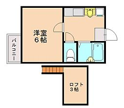 ジャラン福大前II[1階]の間取り