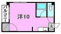 ボンショワール3[202 号室号室]の間取り