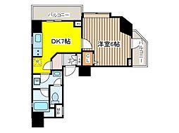 東京都府中市若松町3丁目の賃貸マンションの間取り