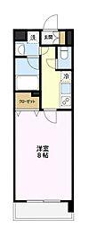 東京都八王子市西片倉3丁目の賃貸マンションの間取り