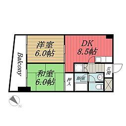 千葉県千葉市中央区弁天1丁目の賃貸マンションの間取り