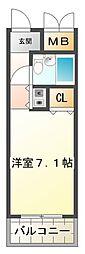 ジュネス福田[1階]の間取り