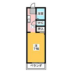 第2アンシックス[1階]の間取り
