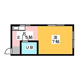 春日井不動産ビル1号[4階]の間取り