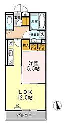 東京都小金井市貫井南町3丁目の賃貸アパートの間取り