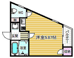 メニュール新福島[5階]の間取り